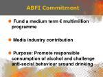 abfi commitment