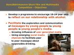 dare2bdrinkaware short film and multimedia competition objectives