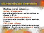delivery through partnership