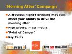 morning after campaign