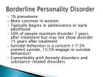 borderline personality disorder1