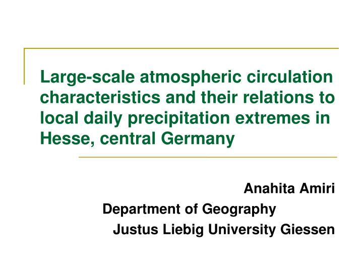 anahita amiri department of geography justus liebig university giessen n.