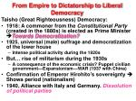 from empire to dictatorship to liberal democracy1