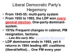 liberal democratic party s hegemony