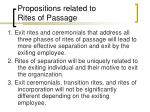 propositions related to rites of passage