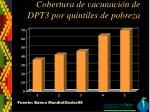 cobertura de vacunaci n de dpt3 por quintiles de pobreza