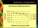 indicador de equidad 3