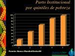 parto institucional por quintiles de pobreza