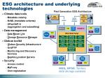 esg architecture and underlying technologies