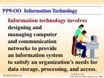 pp9 oo information technology
