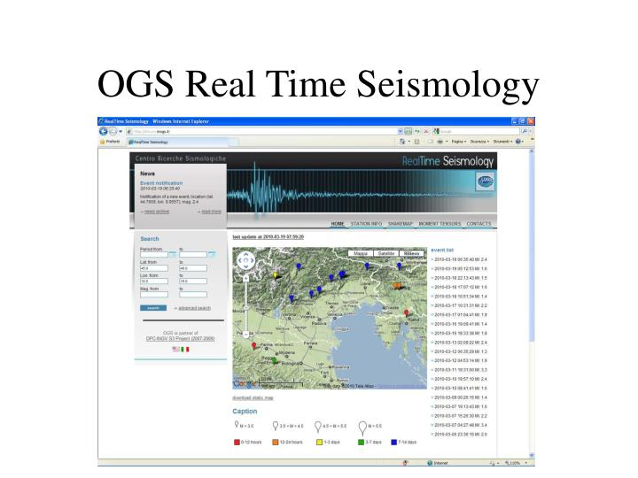OGS Real Time Seismology