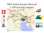 ogs virtual seismic network 100 real time stations