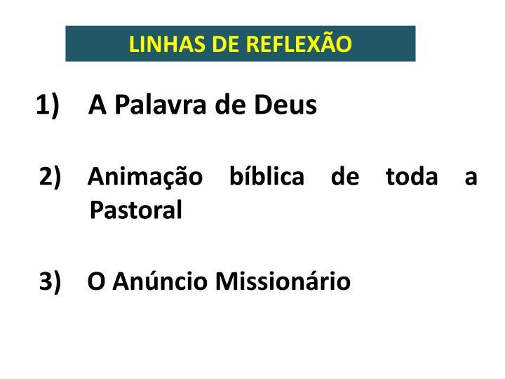 LINHAS DE REFLEXÃO