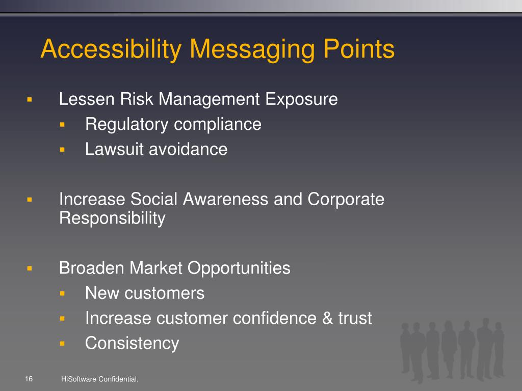 Accessibility Messaging Points