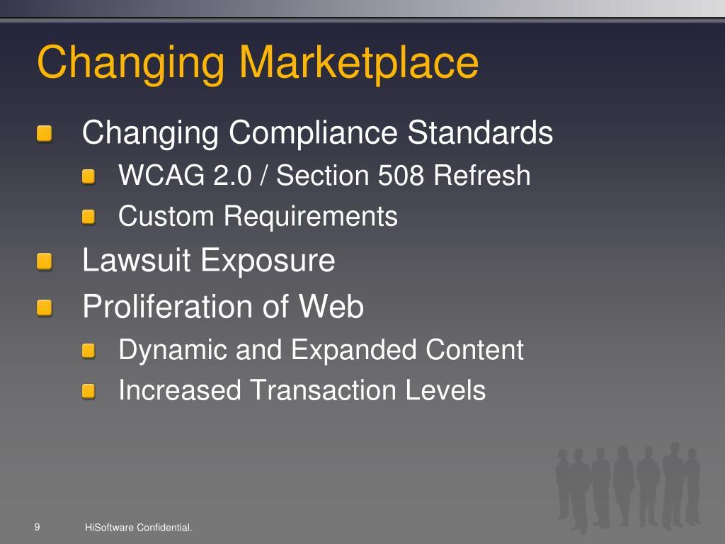Changing Marketplace