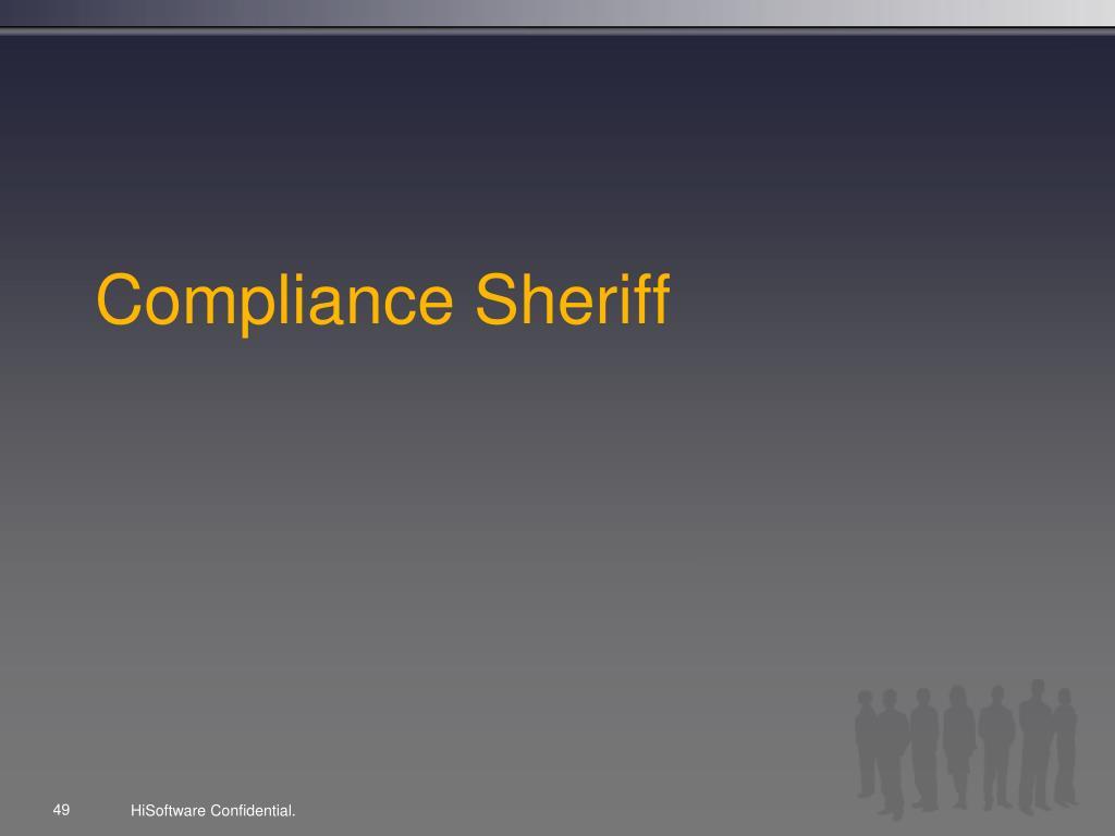 Compliance Sheriff