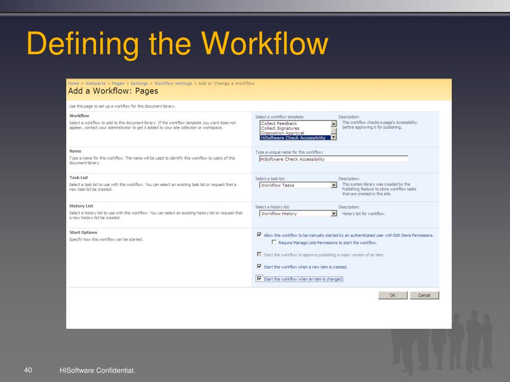Defining the Workflow