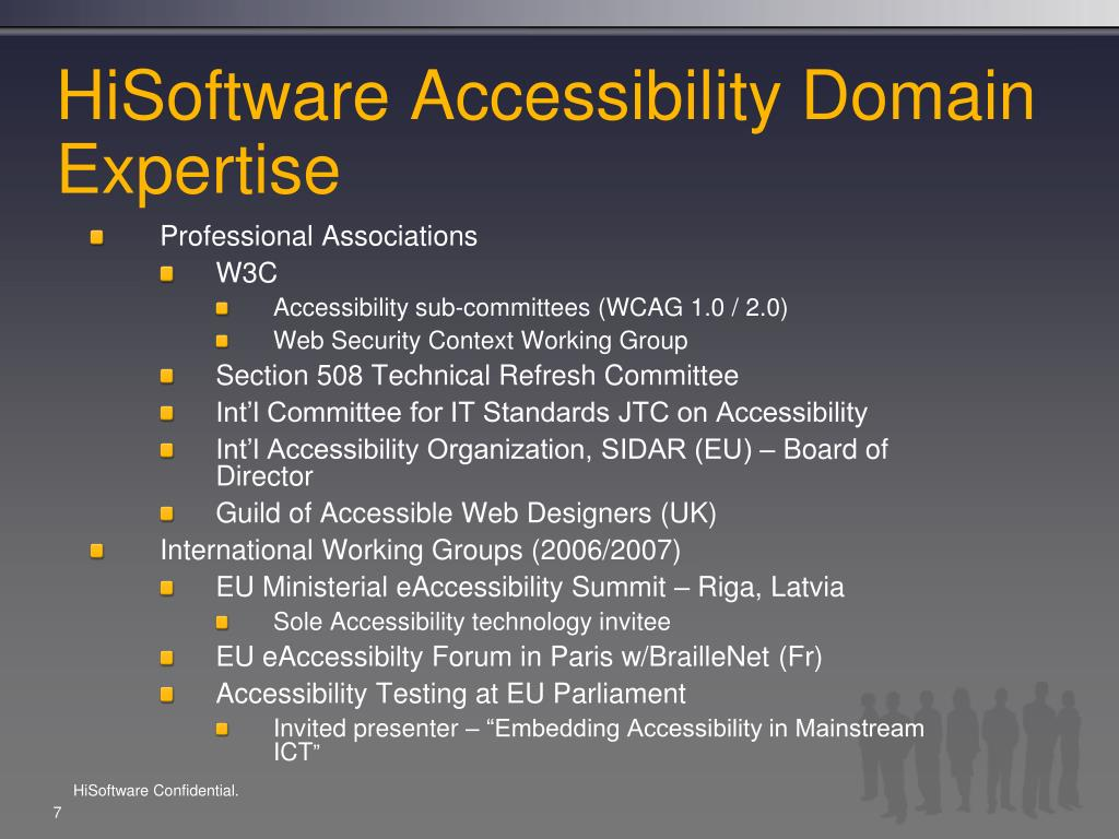 HiSoftware Accessibility Domain Expertise