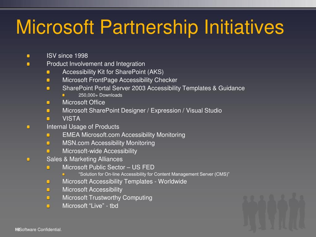 Microsoft Partnership Initiatives
