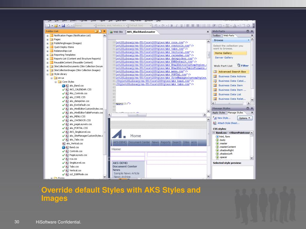 Override default Styles with AKS Styles and Images