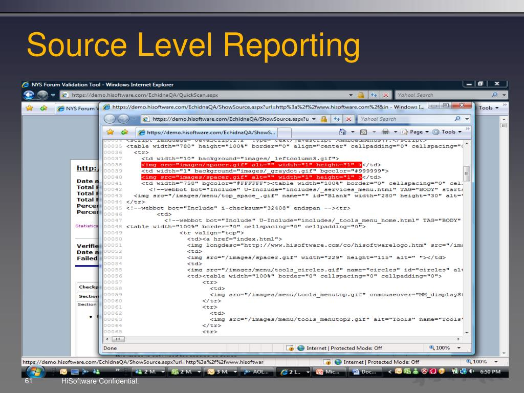 Source Level Reporting