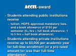 accel award