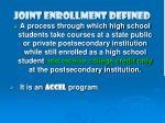 joint enrollment defined