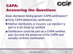 capa answering the questions