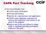capa part tracking1