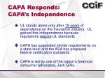 capa responds capa s independence