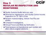 step 3 regular re inspection and monitoring