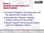 step 4 marketplace quality monitoring