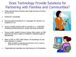 does technology provide solutions for partnering with families and communities