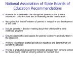 national association of state boards of education recommendations