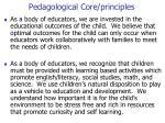 pedagological core principles