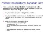 practical considerations campaign drive