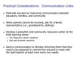 practical considerations communication links
