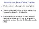 principles that guide effective teaching