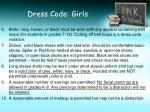 dress code girls1