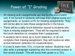 power of i grading1