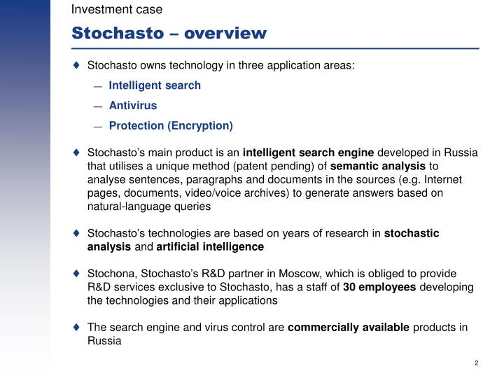 Stochasto overview