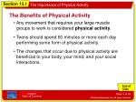 the benefits of physical activity