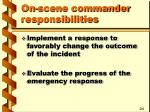 on scene commander responsibilities3