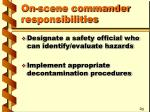 on scene commander responsibilities6