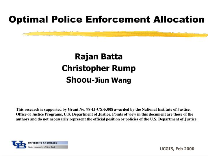 optimal police enforcement allocation n.
