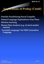 applications of prolog contd