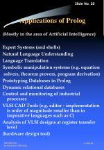 applications of prolog