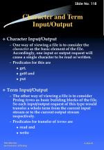 character and term input output