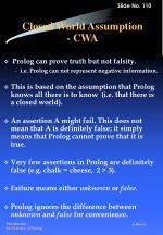 closed world assumption cwa