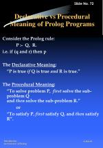 declarative vs procedural meaning of prolog programs